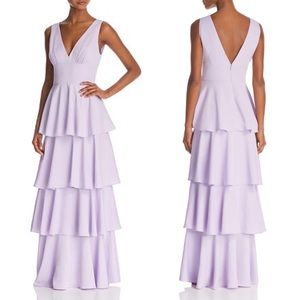 Nicole Miller New York Sleeveless Tiered Gown